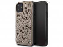 Mercedes-Benz Leather Case Bruin - iPhone 11/XR hoesje