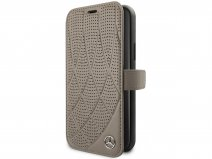 Mercedes-Benz Leather Bookcase Bruin - iPhone 11/XR hoesje
