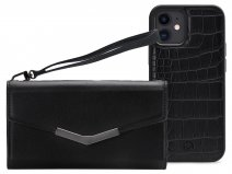 Mobilize Elegant Magnet Clutch Black Croco - iPhone 11 / XR hoesje
