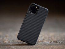 Mous AraMax Carbon Case Zwart - iPhone 11 hoesje