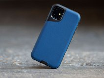 Mous Contour Leather Case Blauw - iPhone 11 hoesje