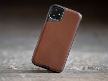Mous Contour Leather Case Bruin - iPhone 11 hoesje