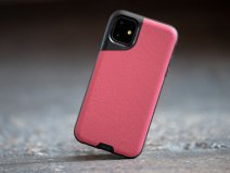 Mous Contour Leather Case Rood - iPhone 11 hoesje