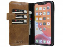 Pierre Cardin Bookcase Bruin Leer - iPhone XR hoesje