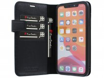 Pierre Cardin Bookcase Zwart Leer - iPhone XR hoesje