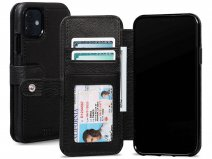Sena Classic Wallet Book Zwart - iPhone 11 Hoesje Leer