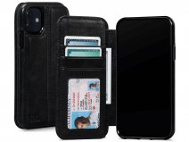 Sena Wallet Book Zwart - iPhone 11 Hoesje Leer