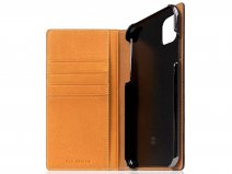 SLG Design D6 Minerva Bookcase Tan - iPhone 11 hoesje