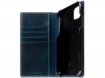SLG Design D7 Italian Wax Leer Blauw - iPhone 11 hoesje
