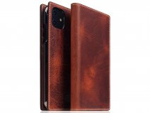 SLG Design D7 Italian Wax Leer Bruin - iPhone 11 hoesje