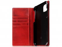 SLG Design D7 Italian Wax Leer Rood - iPhone 11 hoesje