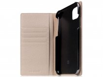 SLG Design D8 Folio Leer Light Cream - iPhone 11 hoesje