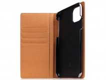 SLG Design D8 Folio Leer Caramel Cream - iPhone 11 hoesje