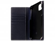 SLG Design D8 Folio Leer Black Blue - iPhone 11 hoesje