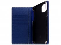 SLG Design D8 Folio Leer Navy Blue - iPhone 11 hoesje