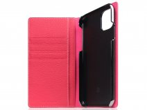 SLG Design D8 Folio Leer Pink Rose - iPhone 11 hoesje