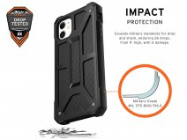 Urban Armor Gear Monarch Carbon - iPhone 11 hoesje