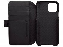 Vaja Wallet Agenda Case Zwart - iPhone 11 Hoesje Leer
