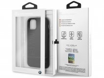 BMW Signature Case Zwart Leer - iPhone 11 Pro hoesje