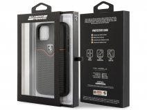Ferrari Perforated Leather Case Zwart - iPhone 11 Pro Hoesje