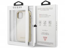 Guess Iridescent Hard Case Goud - iPhone 11 Pro hoesje