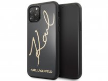 Karl Lagerfeld Signature HD Glass Case - iPhone 11 Pro hoesje
