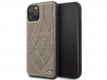 Mercedes-Benz Leather Case Bruin - iPhone 11 Pro hoesje
