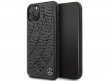 Mercedes-Benz Leather Case Zwart - iPhone 11 Pro hoesje