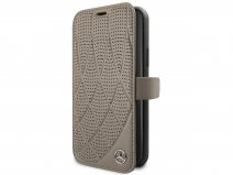 Mercedes-Benz Leather Bookcase Bruin - iPhone 11 Pro hoesje