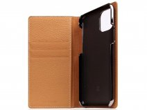 SLG Design D8 Folio Leer Caramel Cream - iPhone 11 Pro hoesje