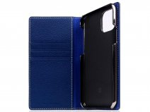 SLG Design D8 Folio Leer Navy Blue - iPhone 11 Pro hoesje