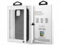 BMW Signature Case Zwart Leer - iPhone 11 Pro Max hoesje