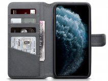 CaseBoutique Leather Wallet Grijs Leer - iPhone 11 Pro Max hoesje