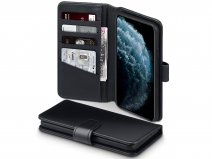 CaseBoutique Leather Wallet Zwart Leer - iPhone 11 Pro Max hoesje