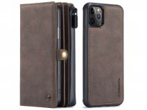 CaseMe Multi Wallet Ritsvak Case Bruin - iPhone 11 Pro Max Hoesje