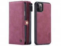 CaseMe Multi Wallet Ritsvak Case Rood - iPhone 11 Pro Max Hoesje