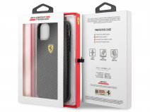 Ferrari Dual Layer Case Carbon Zwart - iPhone 11 Pro Max Hoesje