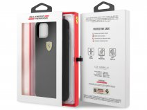 Ferrari Silicon Hard Case Zwart - iPhone 11 Pro Max Hoesje