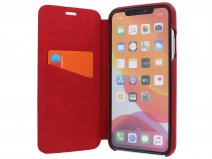 Graffi Oyster Folio Rood Leer - iPhone 11 Pro Max hoesje