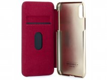 Greenwich Dogger Folio Oxblood/Gold - iPhone 11 Pro Max Hoesje Leer