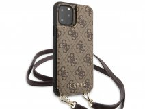 Guess 4G Crossbody Case Bruin - iPhone 11 Pro Max hoesje