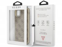 Guess Monogram Hard Case Bruin - iPhone 11 Pro Max hoesje