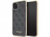 Guess Monogram Hard Case Grijs - iPhone 11 Pro Max hoesje