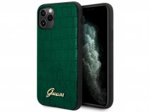 Guess Croco Case Groen - iPhone 11 Pro Max hoesje