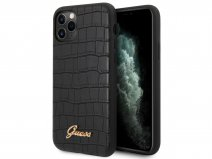 Guess Croco Case Zwart - iPhone 11 Pro Max hoesje