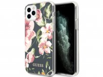 Guess Floral TPU Skin Case No. 3 - iPhone 11 Pro Max hoesje