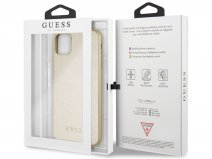 Guess Iridescent Hard Case Goud - iPhone 11 Pro Max hoesje