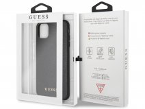 Guess Iridescent Hard Case Zwart - iPhone 11 Pro Max hoesje