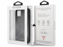 Guess Marble HD Glass Case Zwart - iPhone 11 Pro Max hoesje