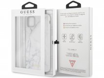 Guess Marble HD Glass Case Wit - iPhone 11 Pro Max hoesje